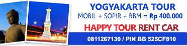 HAPPY TOUR RENT CAR - AC, Full music CD, Harga Kompetitif, Pelayanan Eksekutif akan Membuat Anda Semakin Happy